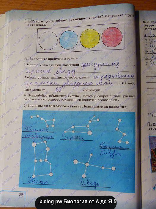 соннин,тема класс составьте гдз 5 диаграмму суша естествознание