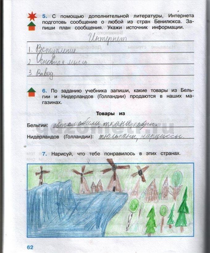 ГДЗ по окружающему миру 4 класс рабочая тетрадь А.А. Плешаков
