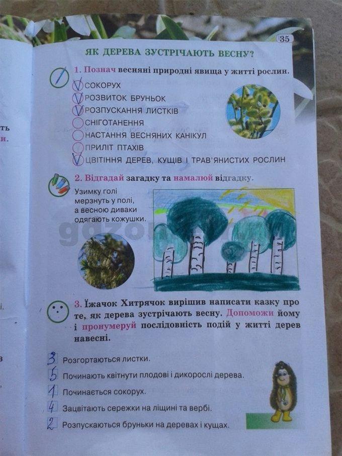 гдз по природознавство 2 клас